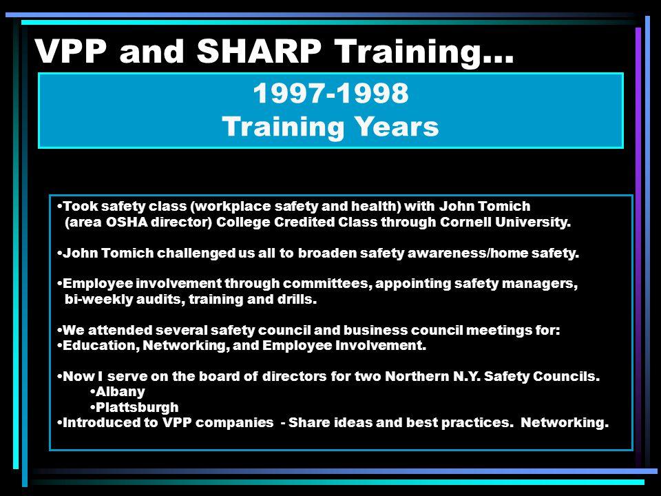VPP and SHARP Training...