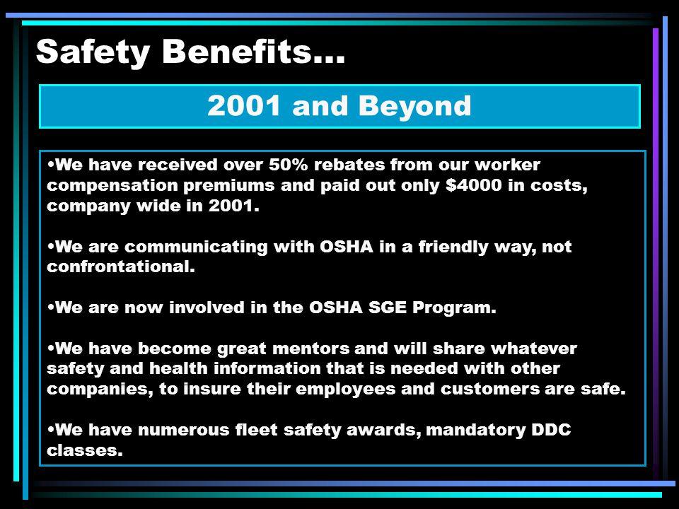 Safety Benefits...