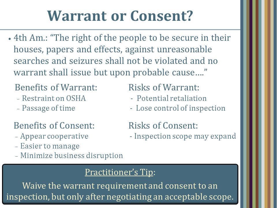 Warrant or Consent.