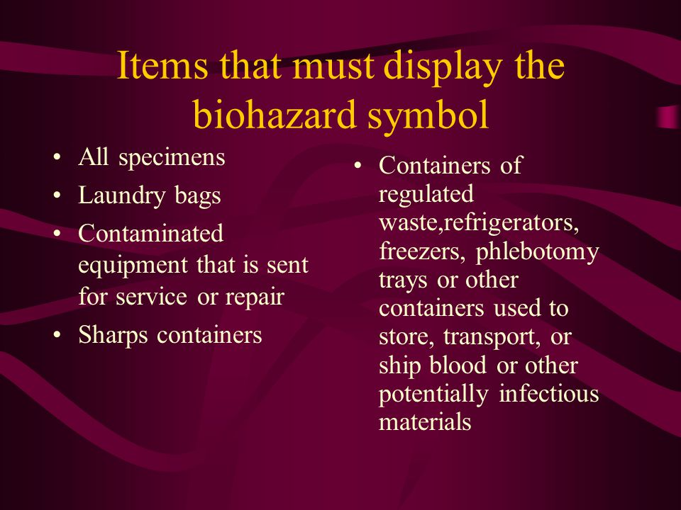 This is the universal BIOHAZARD SYMBOL.