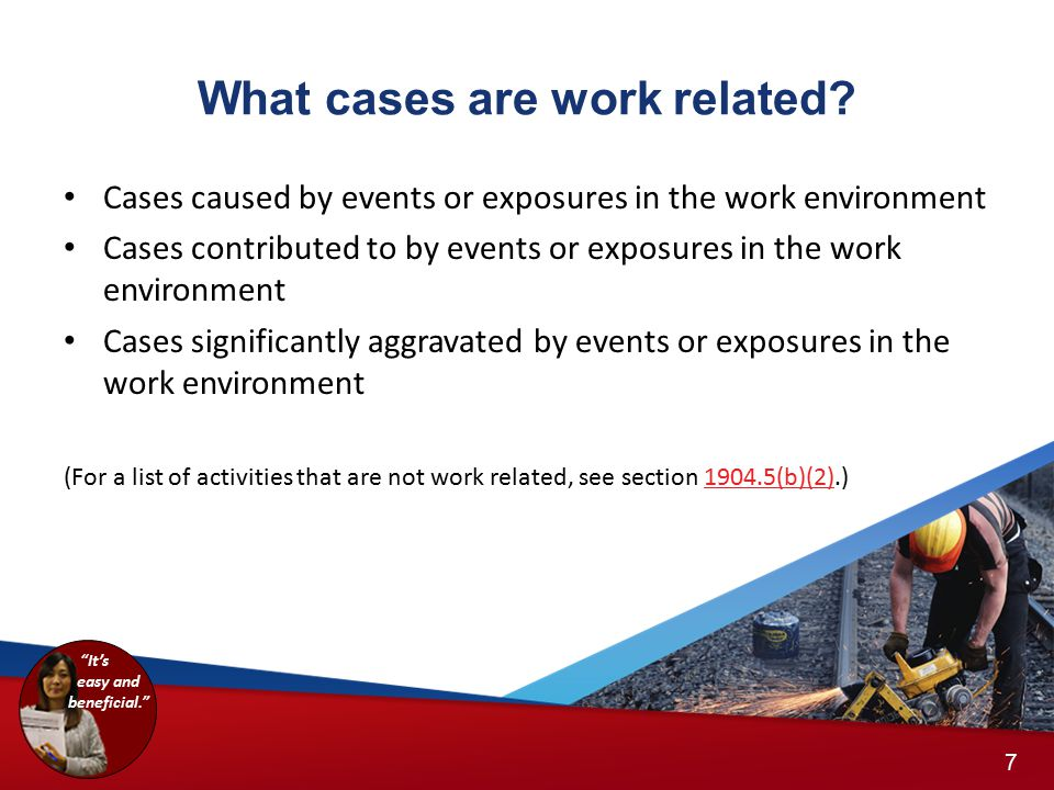 What cases are work related.