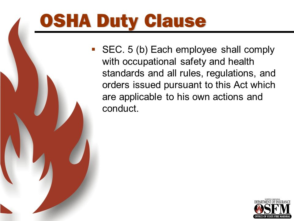 N.C.OSHA Program  The N.C. OSHA program is administered by the N.C.