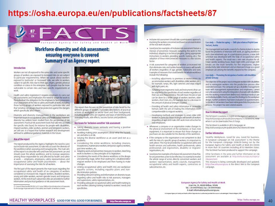 http://osha.europa.eu 40 https://osha.europa.eu/en/publications/factsheets/87