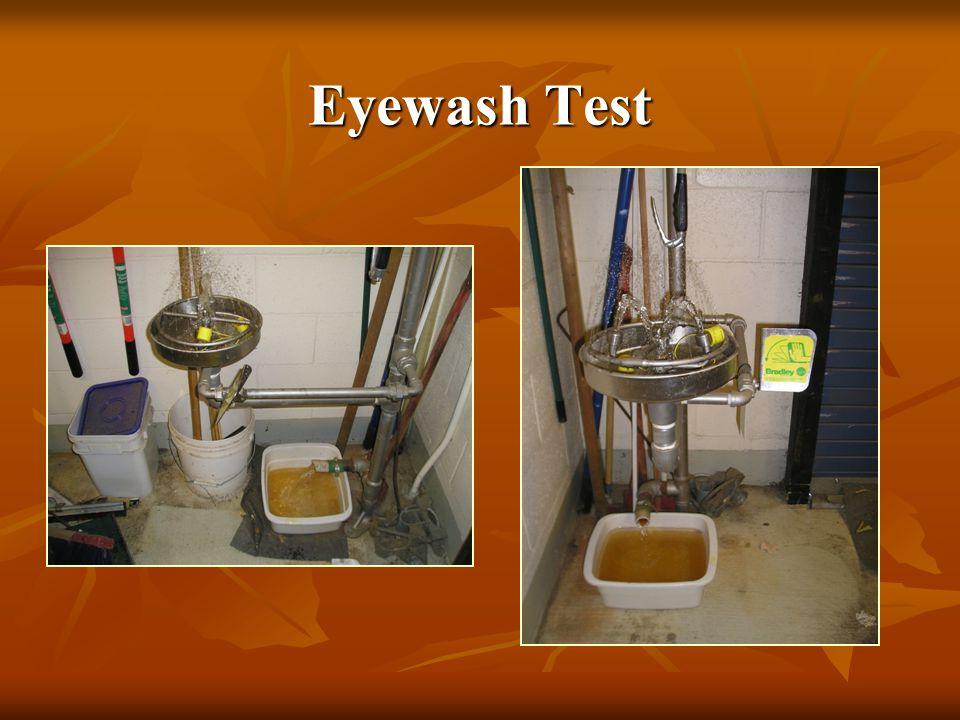 Eyewash Test