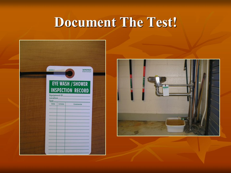 Document The Test!