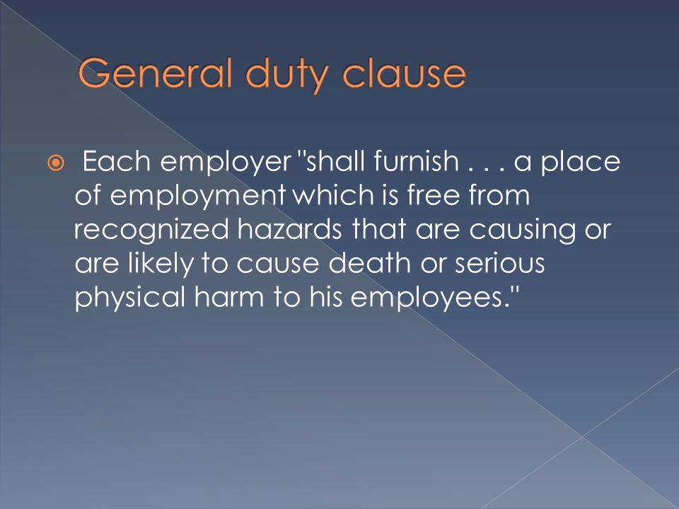  Each employer shall furnish...