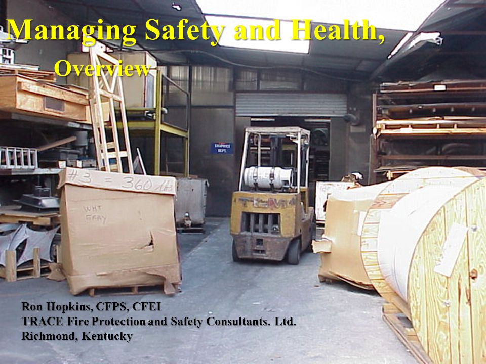 II. Safety and Health Programs
