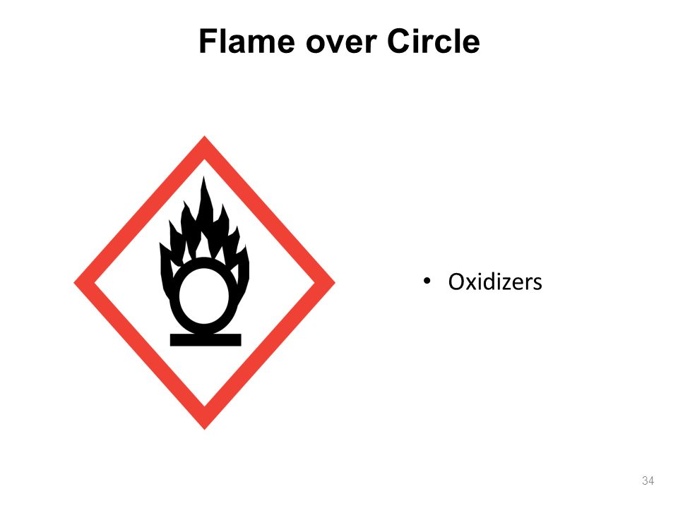 Flame over Circle 34 Oxidizers