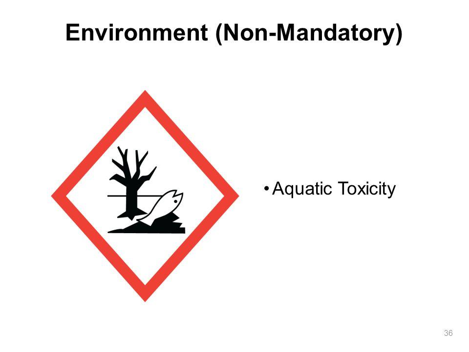 Environment (Non-Mandatory) 36 Aquatic Toxicity