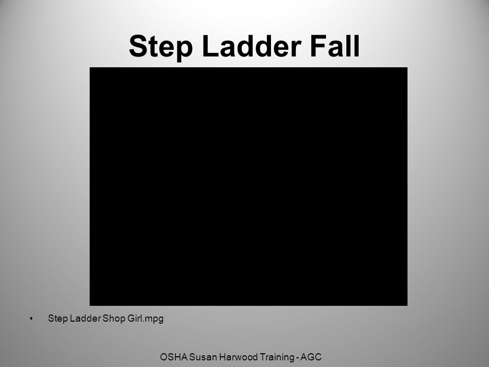 OSHA Susan Harwood Training - AGC Step Ladder Fall Step Ladder Shop Girl.mpg