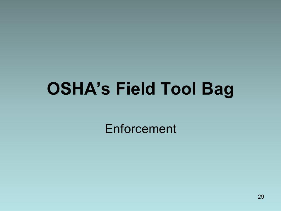 OSHA's Field Tool Bag Enforcement 29