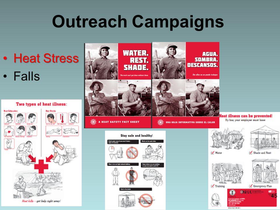 Outreach Campaigns Heat StressHeat Stress Falls 45