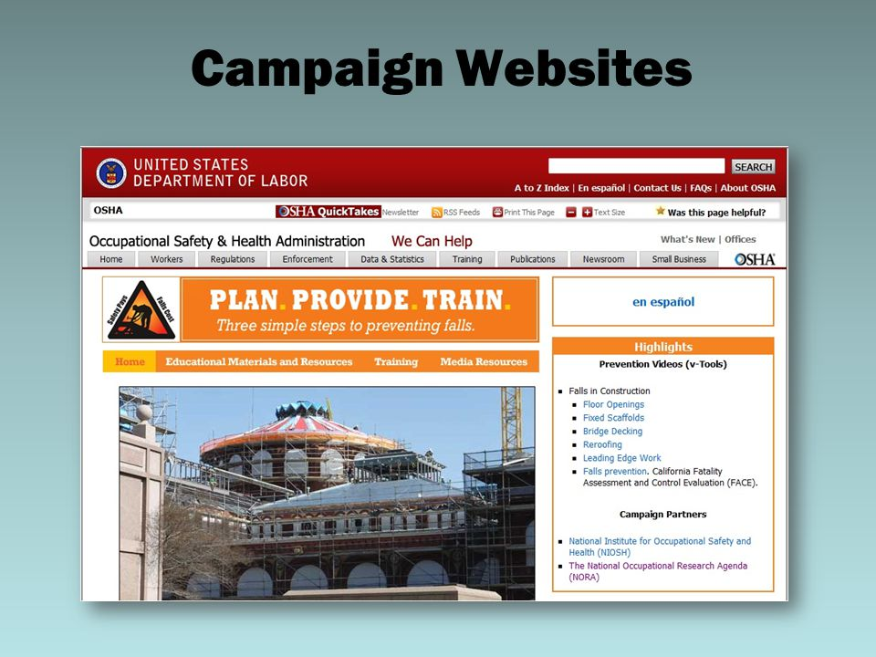 Campaign Websites