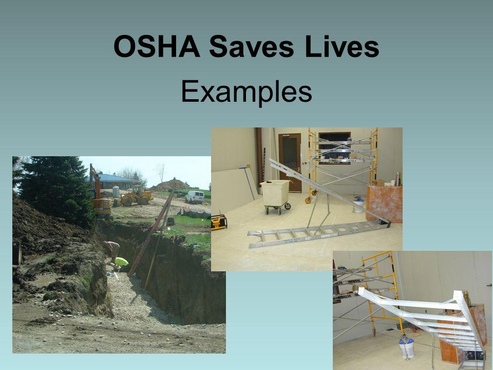 OSHA Saves Lives Examples 6
