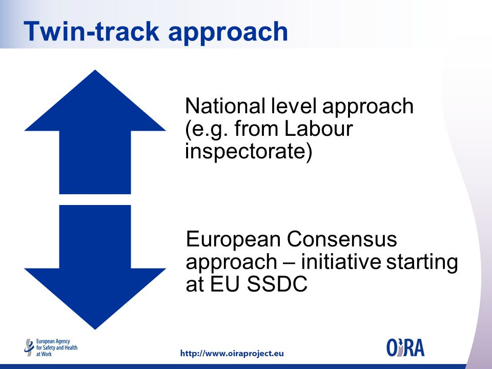 Twin-track approach National level approach (e.g.