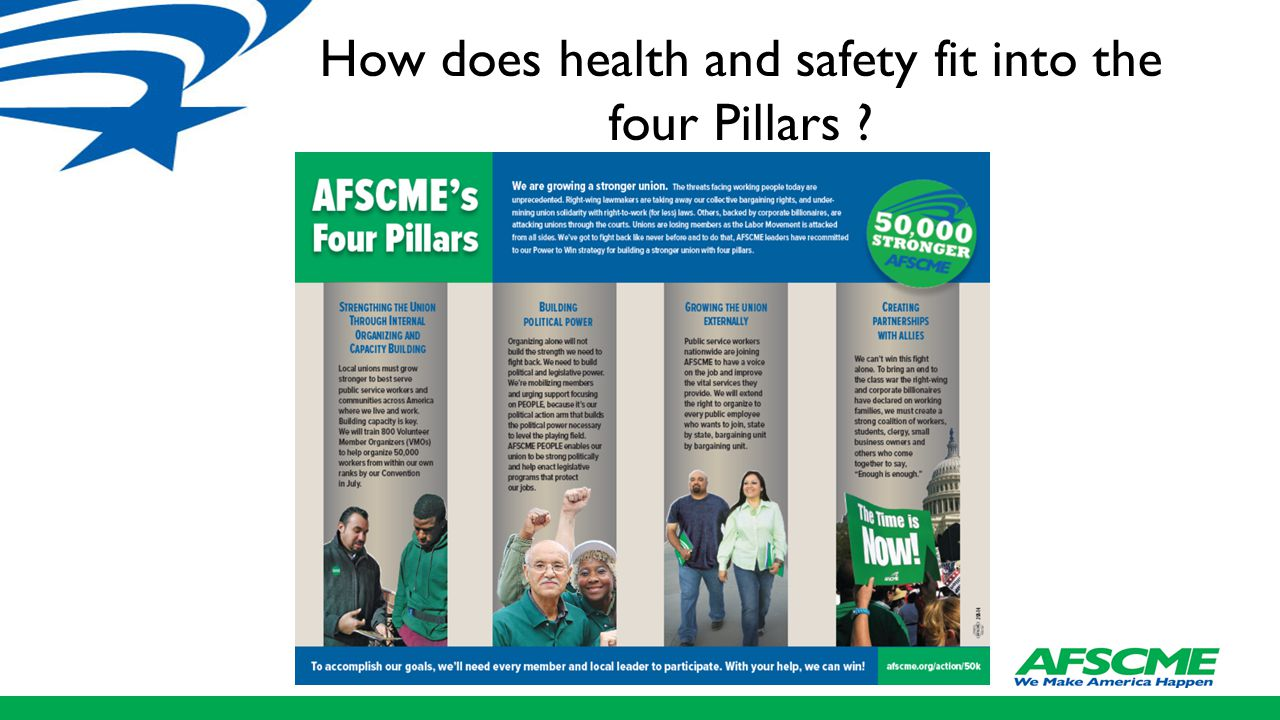 How does health and safety fit into the four Pillars ?
