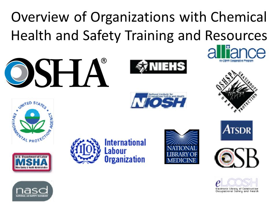 International Labour Organization Chemical Safety Training modules The training modules introduce safe use of chemicals at workplaces, present classification systems for the labelling and transport of dangerous goods, allow the reading and use of chemical safety cards, give a basic overview of toxicology and disseminate information on selected, widely used, hazardous substances.