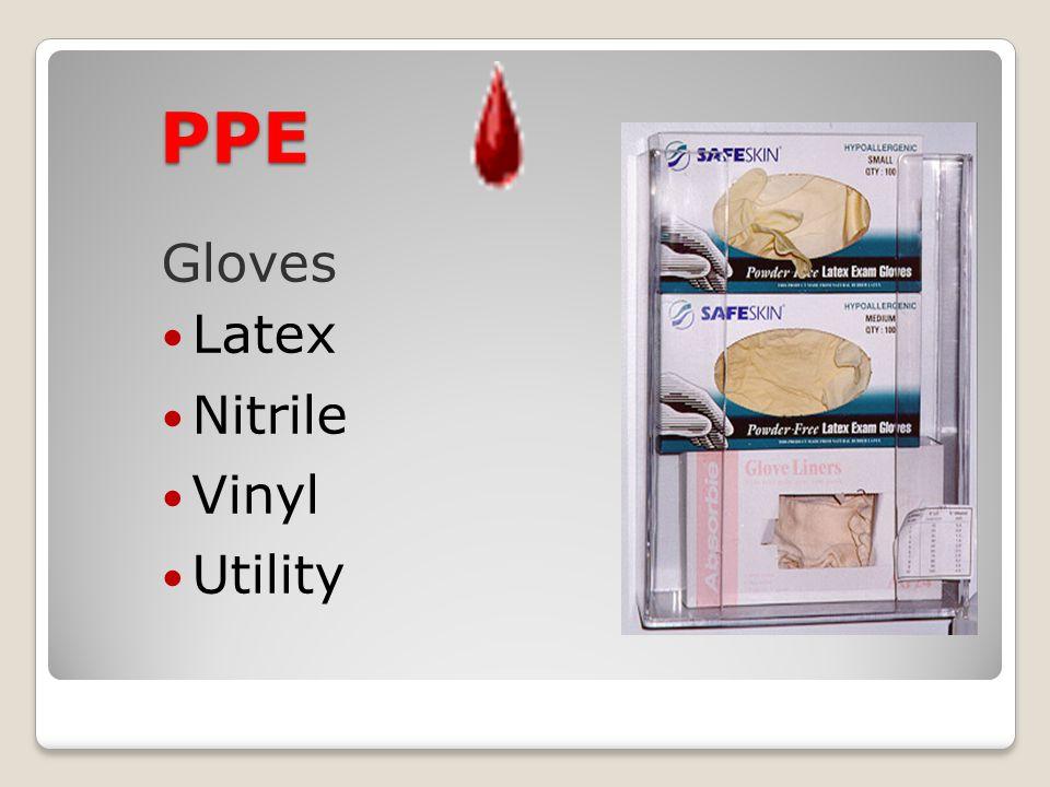 PPE Gloves Latex Nitrile Vinyl Utility