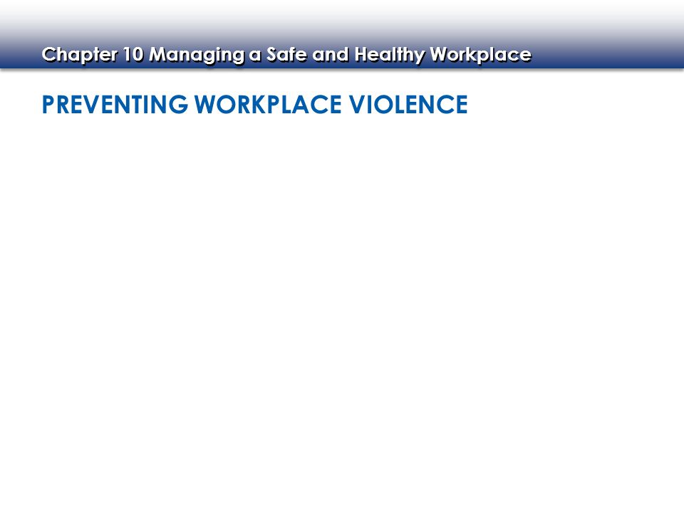 Chapter 10 Managing a Safe and Healthy Workplace Bomb Scares Other Emergencies EMERGENCY MANAGEMENT PROGRAMS Basics of Emergency Management Plans Fires