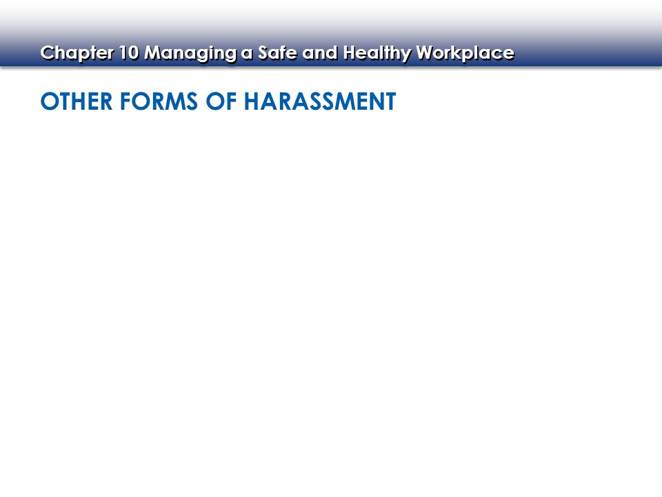 Chapter 10 Managing a Safe and Healthy Workplace ENSURING EMPLOYEES' RIGHTS Rights of Employees Who Are Pregnant Rights of Employees Who Are Disabled Rights of Younger Workers
