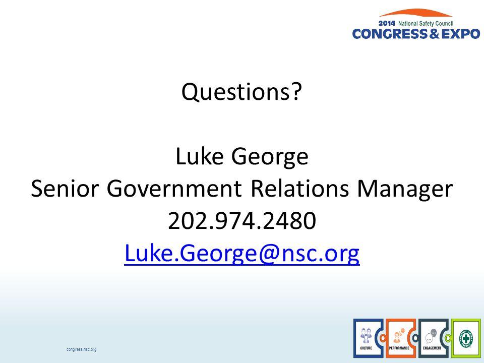 congress.nsc.org Questions.