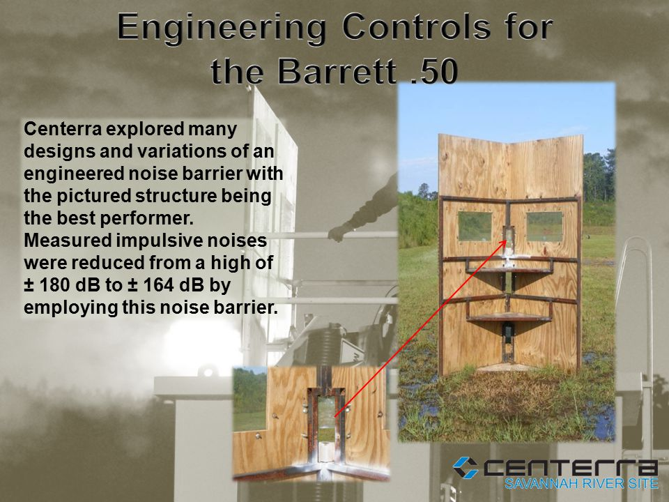 Centerra explored many designs and variations of an engineered noise barrier with the pictured structure being the best performer.