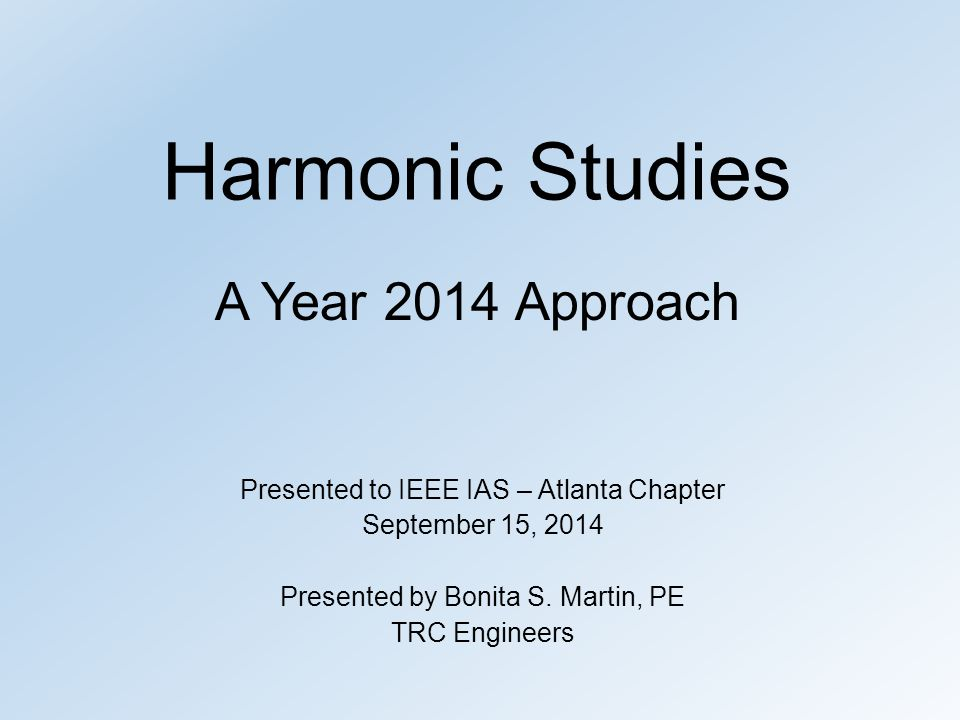 When System Problems Occur Red flags for when harmonic distortion level may become too high...