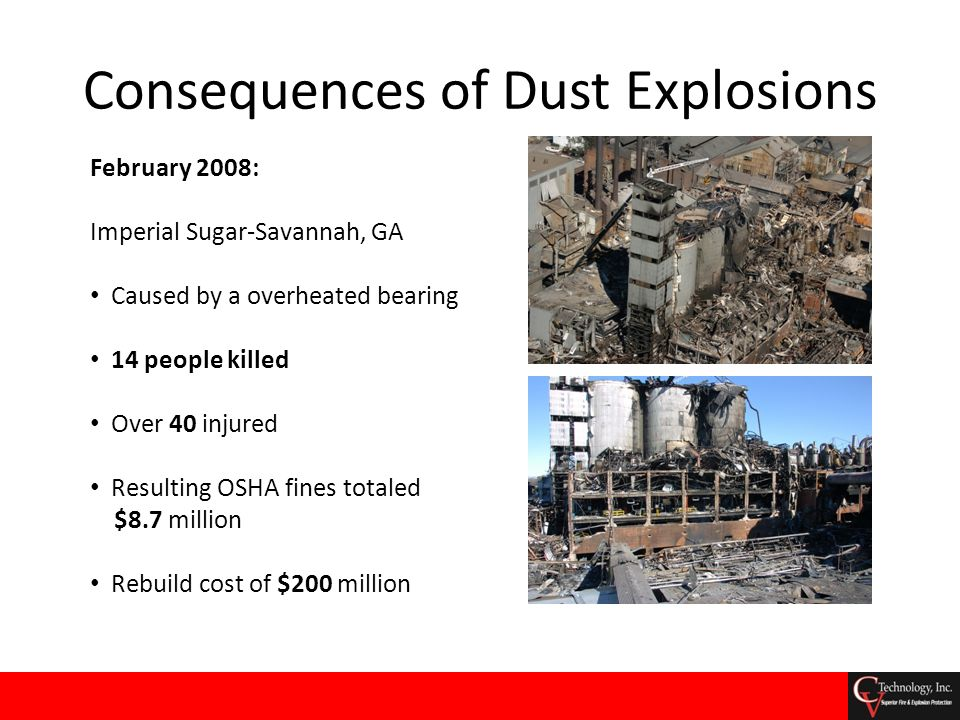 Concluding Remarks No two dust explosions are the same.