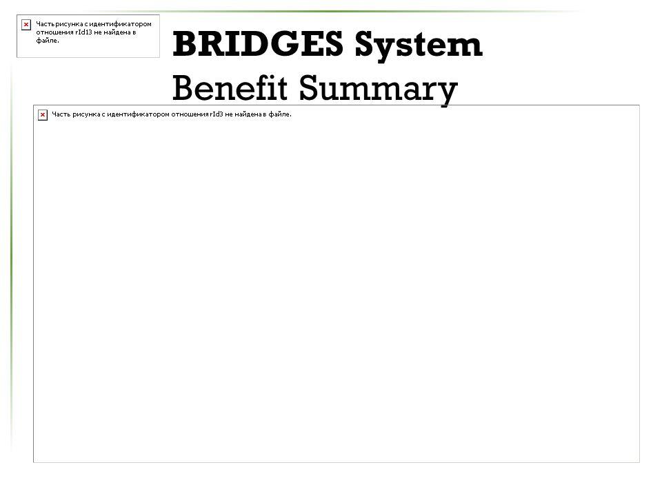 BRIDGES System Benefit Summary