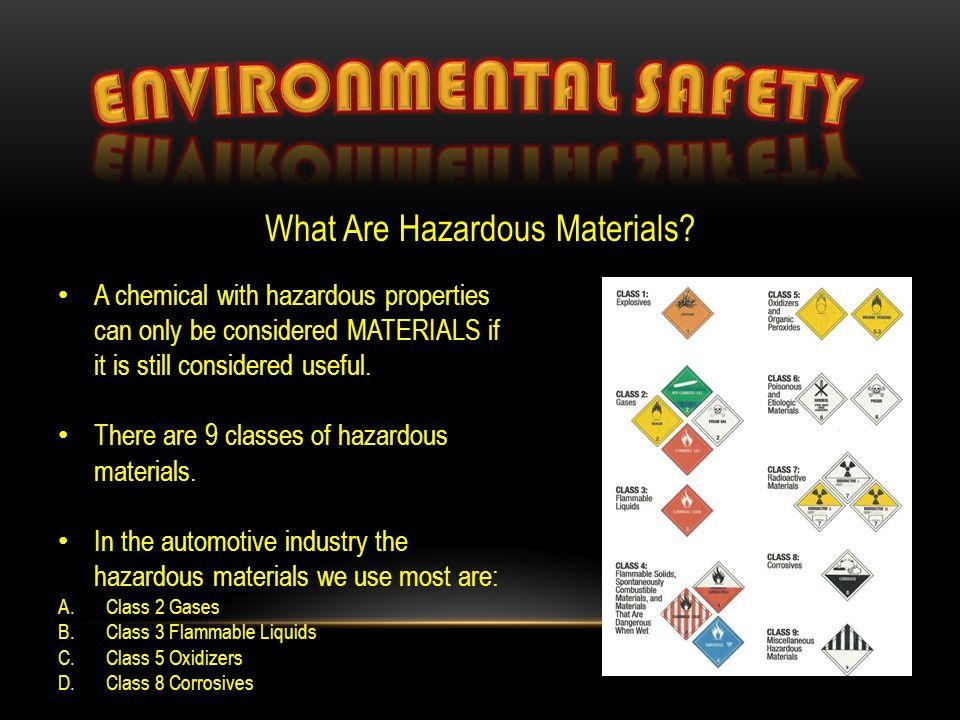 What Are Hazardous Materials.