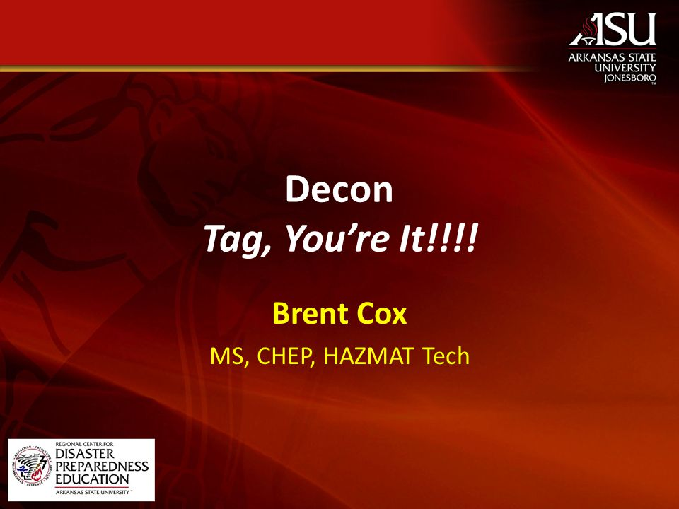 Building a Team What is a Decon Team – Call it… How many people.