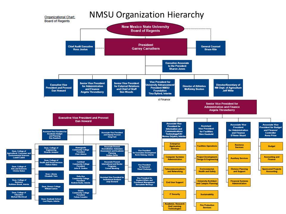 NMSU Organization Hierarchy