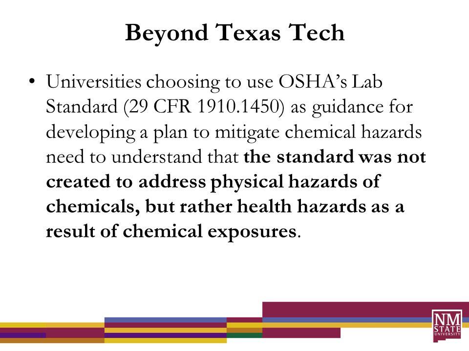 §1910.1450 Occupational exposure to hazardous chemicals in laboratories.