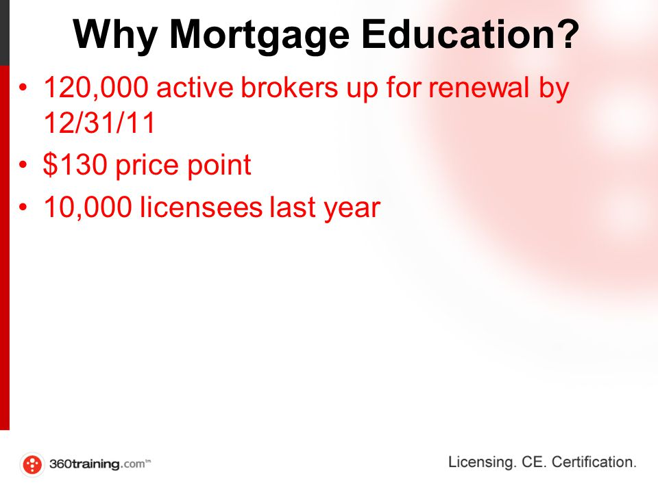 Why Mortgage Education.