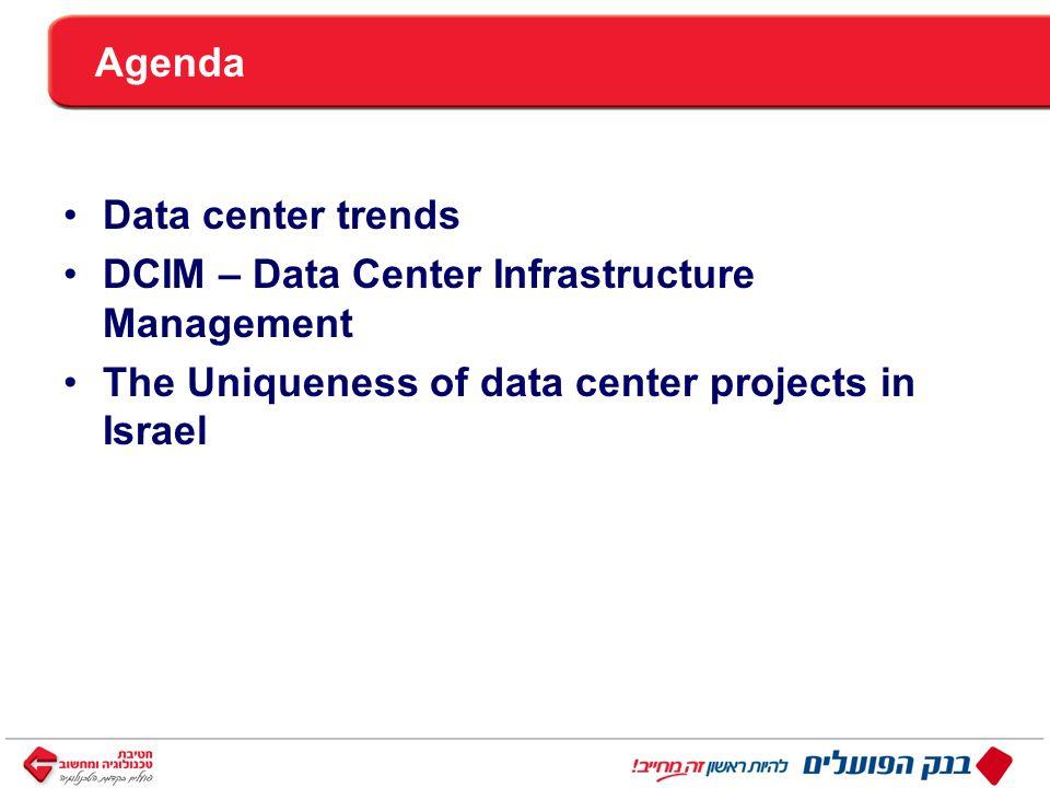 ™ כותרת Agenda Data center trends DCIM – Data Center Infrastructure Management The Uniqueness of data center projects in Israel