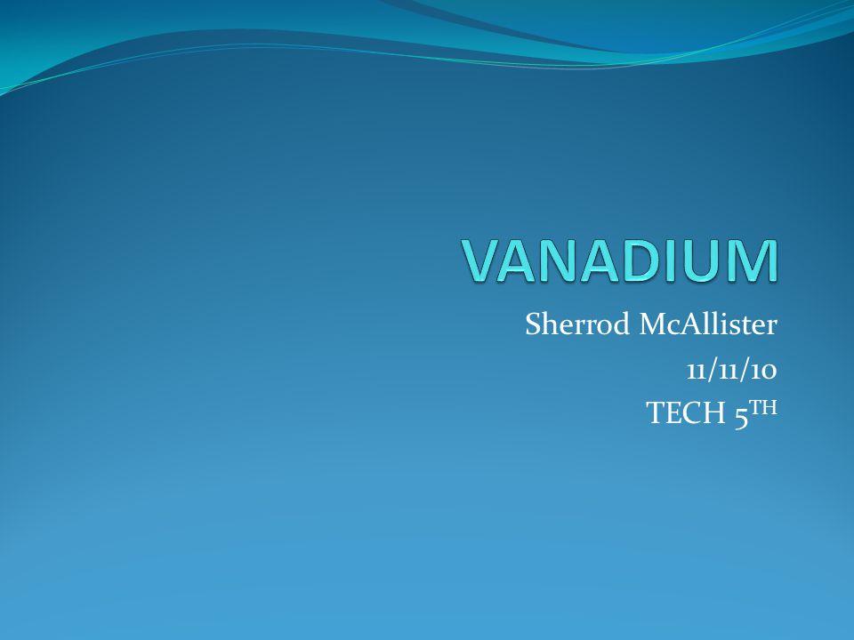 Sherrod McAllister 11/11/10 TECH 5 TH