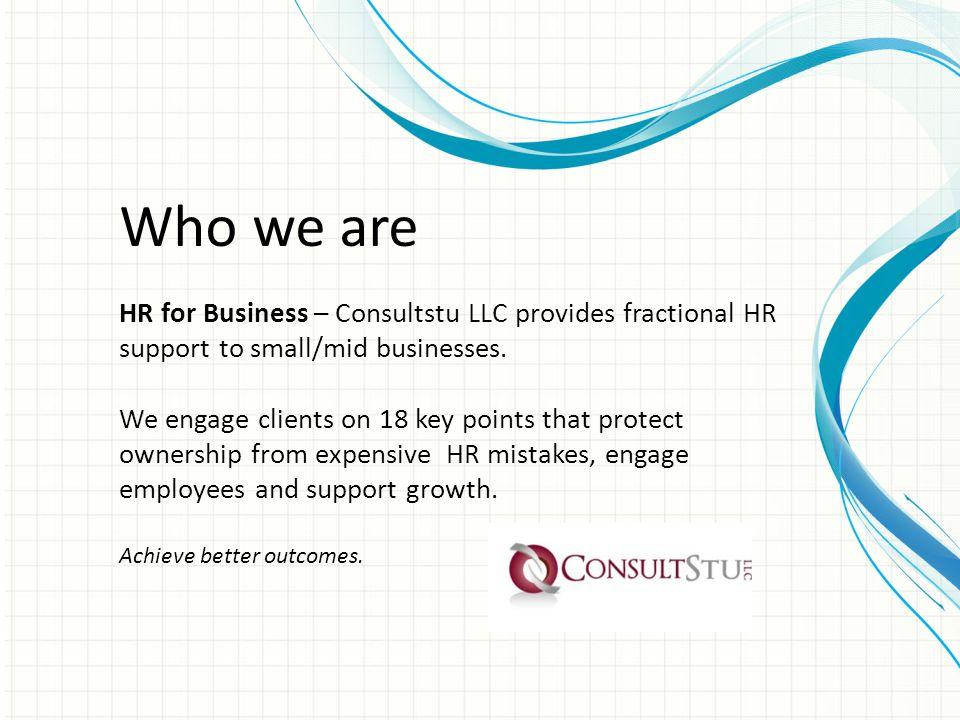 Speaker Profile Stuart Charlson, JD founded HR for Business – Consultstu LLC in 2007.