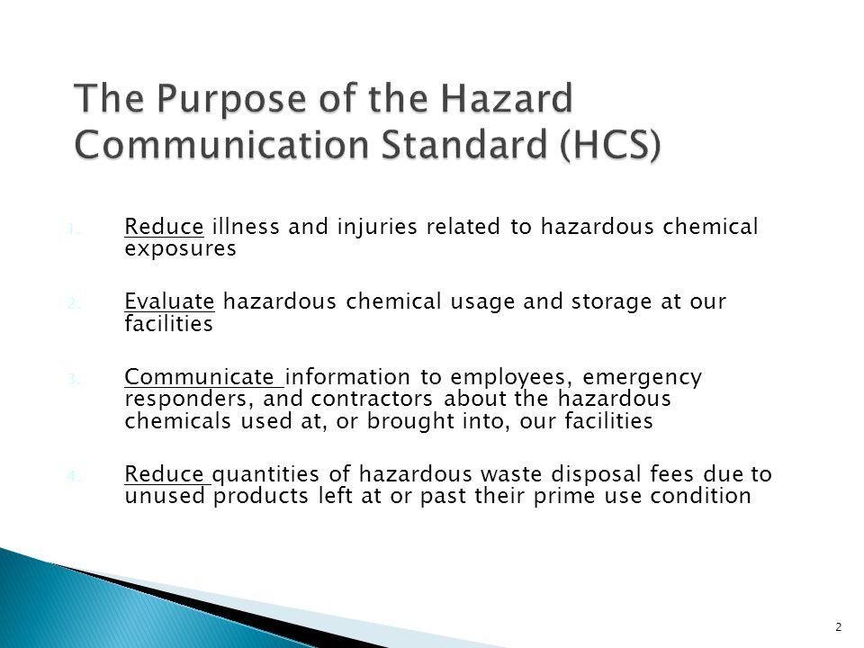 Employees are exposed to hazardous chemicals everyday.