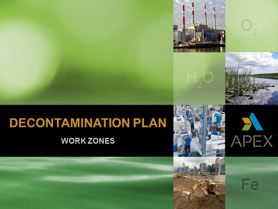 WORK ZONES 28 DECONTAMINATION PLAN