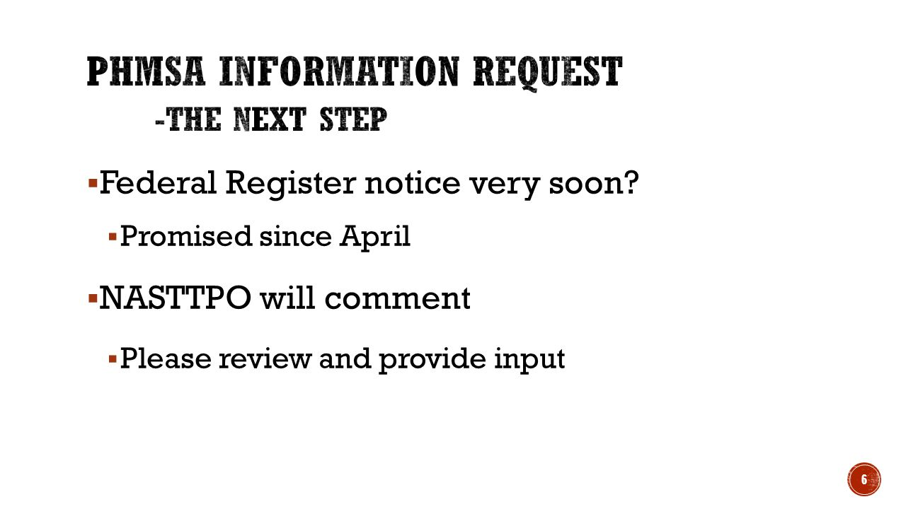 Federal Register notice very soon.
