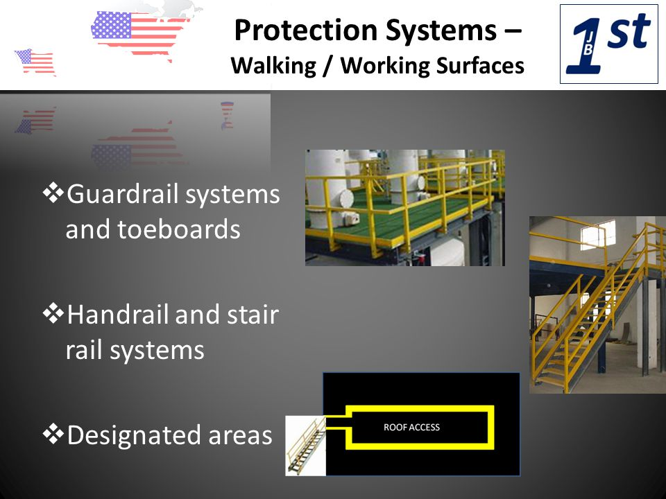 Protection Systems – Walking / Working Surfaces  Hole covers  Safety net systems  Ladder cages