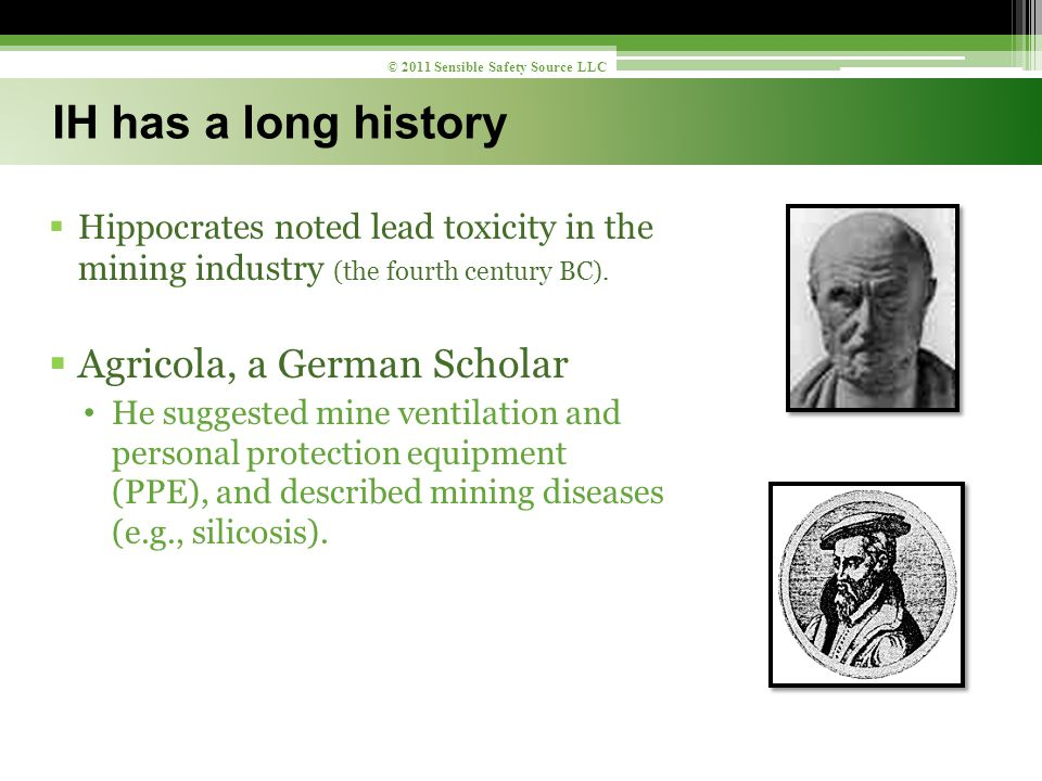  Hippocrates noted lead toxicity in the mining industry (the fourth century BC).