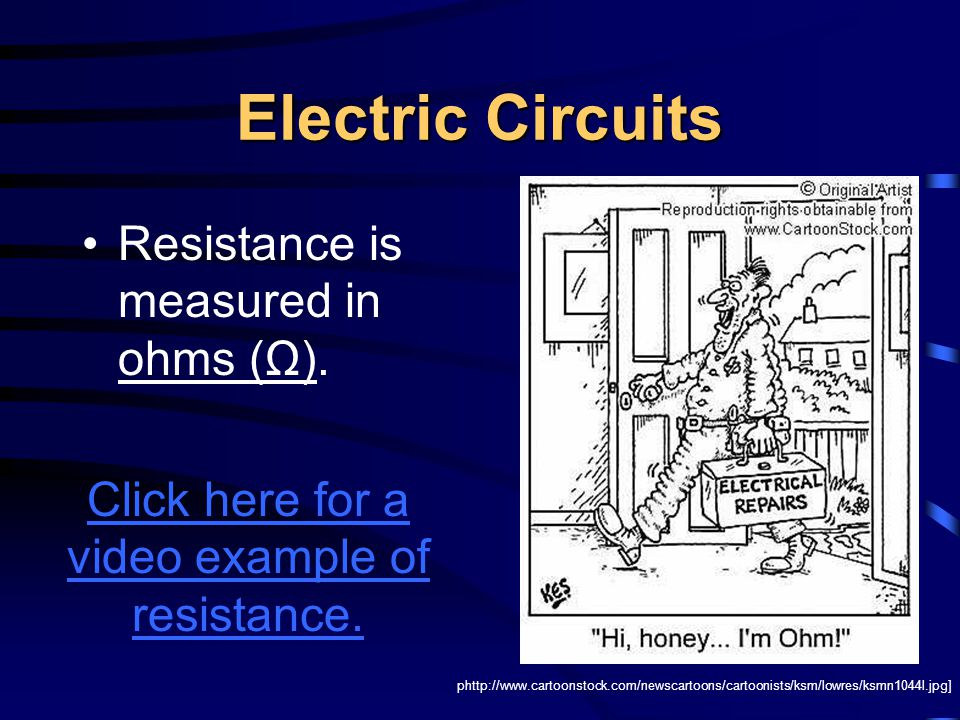Ohm's Law As the resistance in the circuit increases, the current (number of charges) decreases.