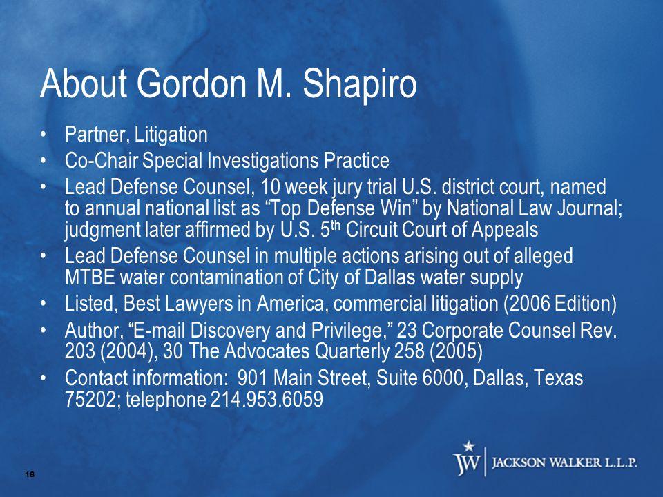 18 About Gordon M.