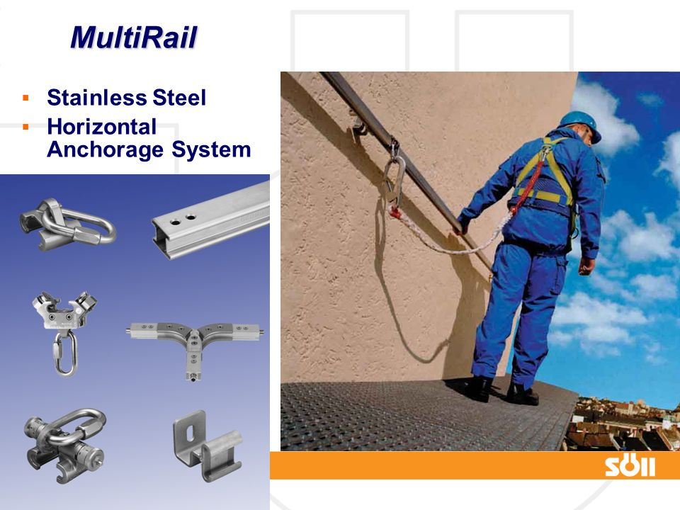 © Frank Martin www.fall-protection.com MultiRail  Stainless Steel  Horizontal Anchorage System