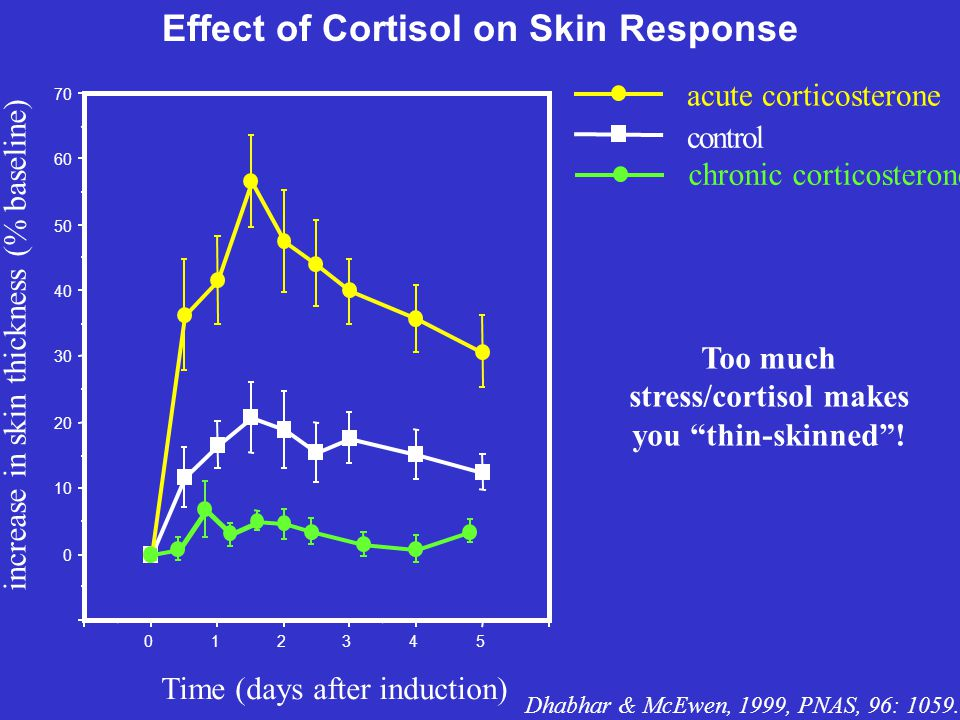 Effect of Cortisol on Skin Response.