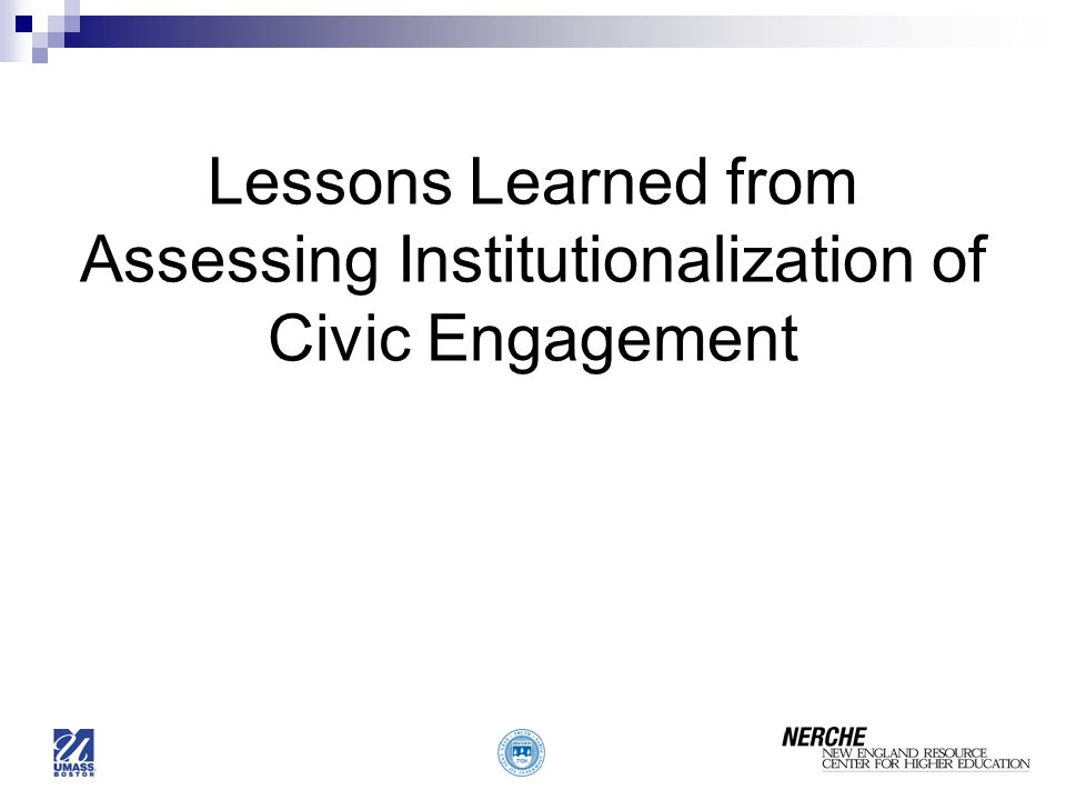 Lessons Learned from Assessing Institutionalization of Civic Engagement