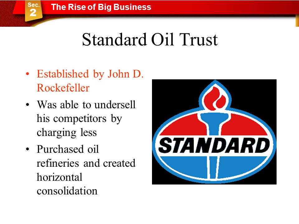Standard Oil Trust Established by John D.