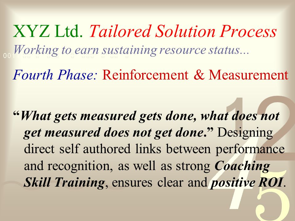 Implementation Third Phase Pilot Behavior Development Series Measurement Evaluate & Refinement Full Behavior Development Series Implementation 1 2 3 4 5 7 8 9 Taking Change Integration & Skill Development to a higher level at XYZ Limited