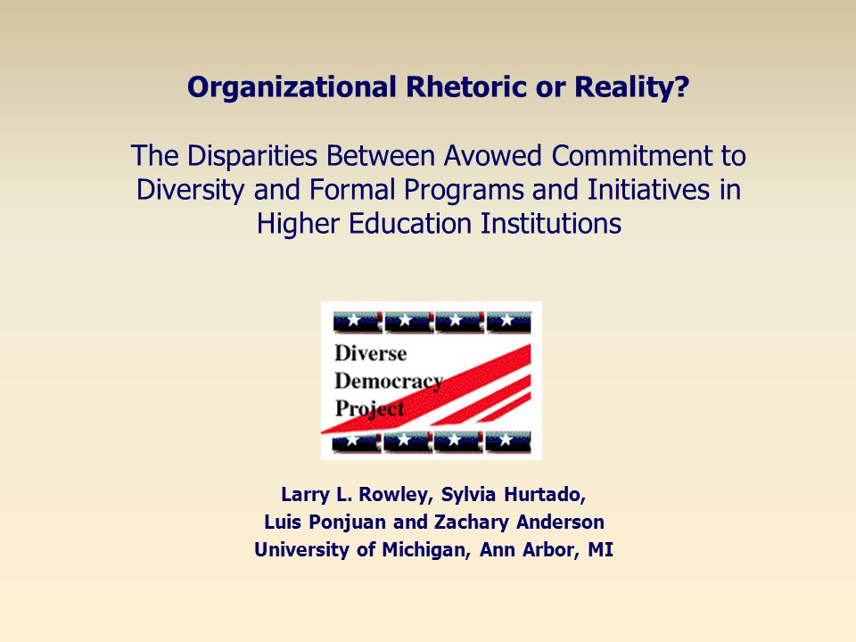 Regression Results Predictors of Institution's Percentage of Minority Faculty (Presence) Mission statement addresses diversity * Institutional Priority on Prestige ** Percentage of Minority Students *** Predictors of Percentage of Tenured Minority Faculty (Commitment) Student enrollment reflect demographics of local area * Institutional Priority on Prestige * Percentage of Minority Students ** *p <.05, **p <.01, ***p <.001